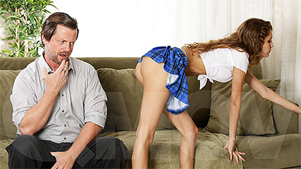 Daddy Gets Lucky With His Schoolgirl Step Daughter