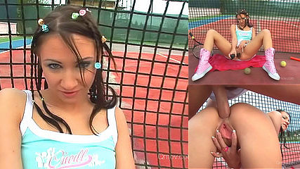 Anal Tennis Teen getting her tiny ass filled with cock