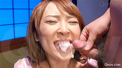Hikaru Shiina gets a mouthful of cum after getting pussy pleasured