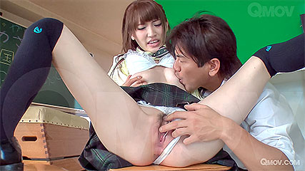 Karin Aizawa gets teacher to creampie her slutty schoolgirl cunt