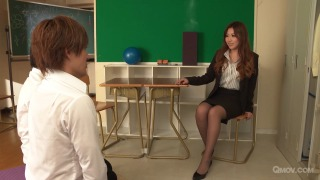 Mai Kamio teaches 2 students all about sex  pic #1