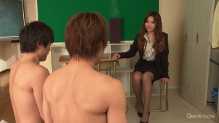 Mai Kamio teaches 2 students all about sex  pic #4