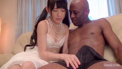 Marie Konishi's pussy squirts after getting fucked by a black cock