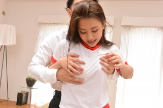 Mei Matsumoto tries on uniforms before a rough pounding pic #3
