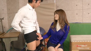 Miku Ohashi bangs a co-teacher after blowing a student pic #2