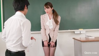 Miku Ohashi enjoys as her students play with her cunt pic #3
