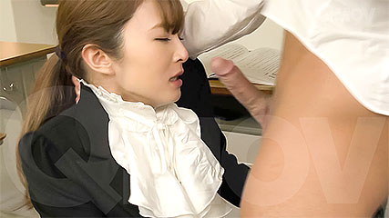 Miku Ohashi gets a mouthful of cum after a steamy blowjob