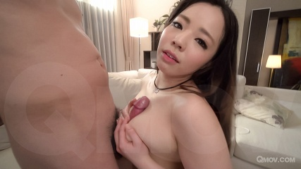 Mimi Aku uses mouth and tits to pleasure 2 cocks