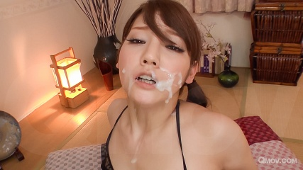 Rei Mizuna gets facial twice after getting pussy toyed