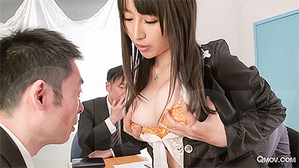 Rina Mayuzumi the office slut fucks everyone in the meeting
