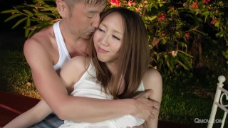 Ruka Ichinose gets pussy pounded and eaten out in the garden pic #1