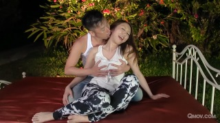 Ruka Ichinose gets pussy pounded and eaten out in the garden pic #2