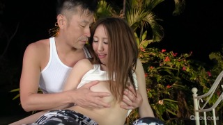 Ruka Ichinose gets pussy pounded and eaten out in the garden pic #3