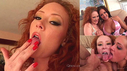 Sexy Red head and her Double Anal Party